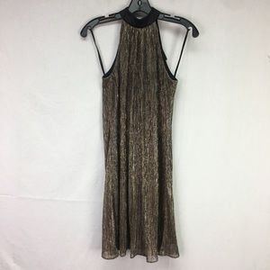 Laundry by Shelli Segal Gold Metallic Halter Dress